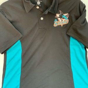 Junior Sharks Shirt size  YL Youth Large, new